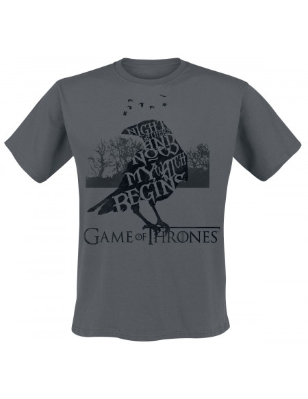 Game Of Thrones The Night Gathers T-shirt anthracite