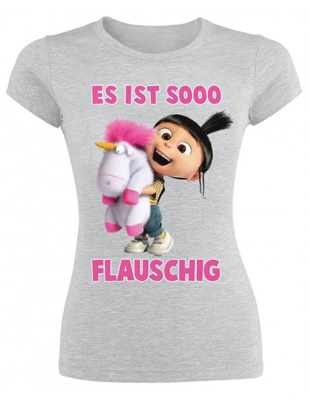 Les Minions Fluffy - So Flauschig T-shirt Femme gris chiné