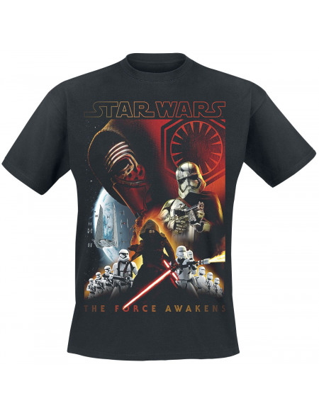 Star Wars Épisode 7 - Le Réveil De La Force - Collage T-shirt noir