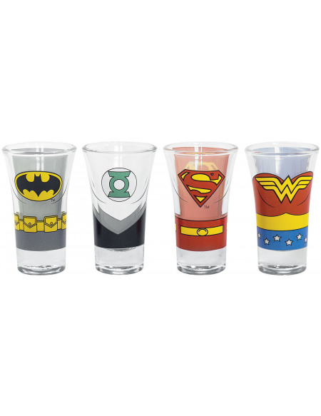 Justice League Superheroes Set verres à shots Standard