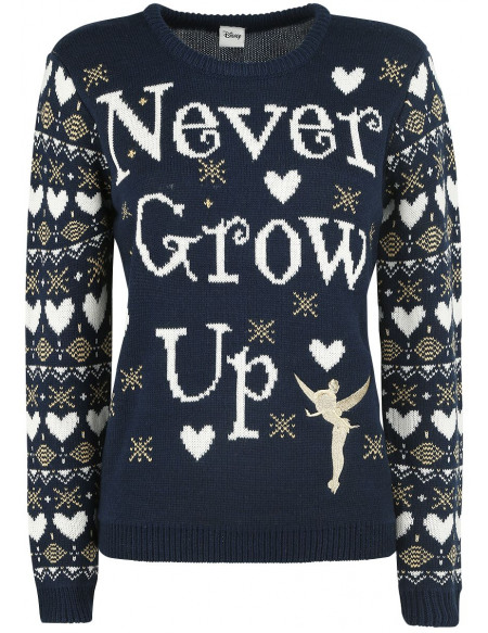 Peter Pan La Fée Clochette - Never Grow Up Pull tricoté multicolore