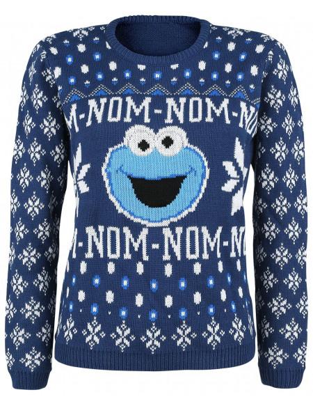 Sesame Street Krümelmonster - Nomnomnom Pull tricoté multicolore