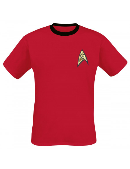 Star Trek Red Uniform T-shirt rouge