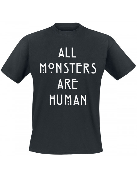American Horror Story All Monsters Are Human T-shirt noir