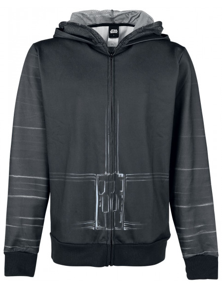 Star Wars Kylo Ren Sweat Zippé à Capuche noir