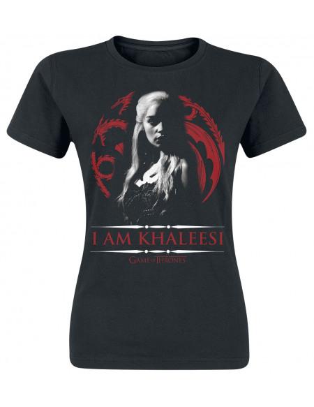 Game Of Thrones Daenerys Targaryen - I Am Khaleesi T-shirt Femme noir