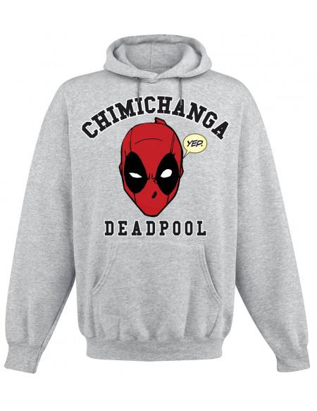 Deadpool Chimichanga Sweat à capuche gris chiné