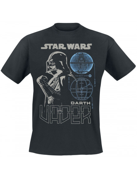Star Wars Rogue One - Dark Vador & Plan T-shirt noir