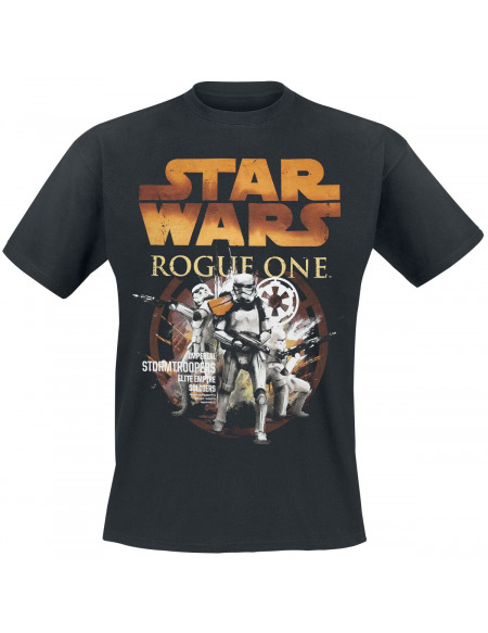 Star Wars Rogue One - Stormtrooper Elite Empire Soldier T-shirt noir