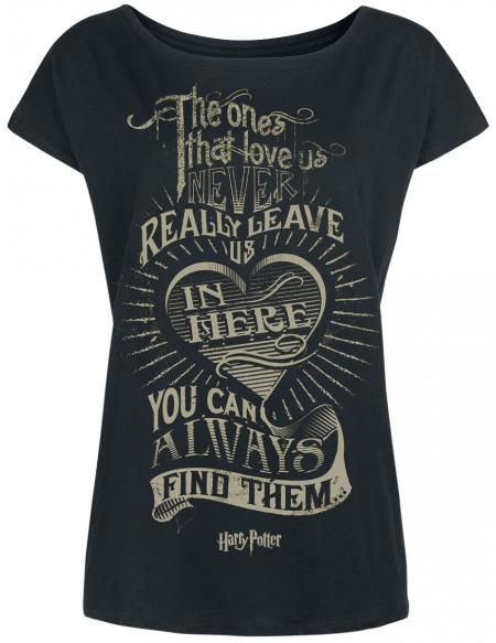 Harry Potter The Ones That Love Us T-shirt Femme noir