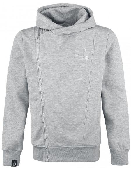 Assassin's Creed Asymmetric Sweat Zippé à Capuche gris chiné