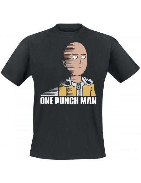 One Punch Man Saitama Fun T-shirt noir