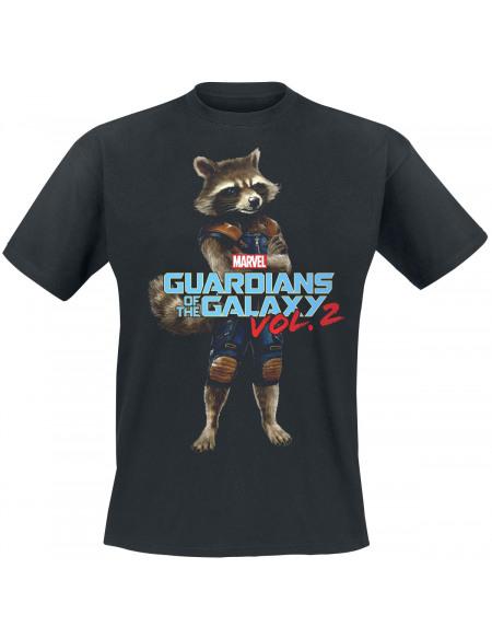 Les Gardiens De La Galaxie 2 - Rocket Racoon T-shirt noir