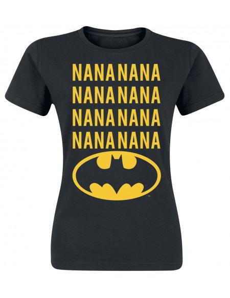 Batman Nana T-shirt Femme noir