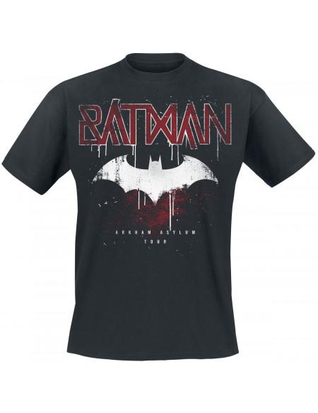 Batman Arkham Asylum Tour T-shirt noir