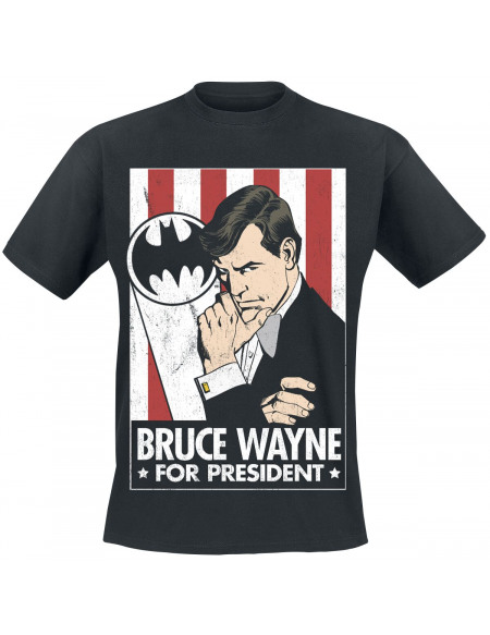 Batman Bruce Wayne For President T-shirt noir