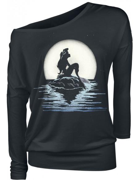 La Petite Sirène Clair De Lune Haut à manches longues noir