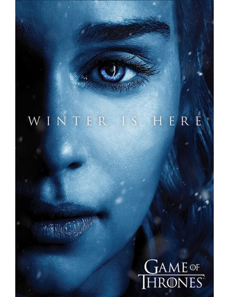 Game Of Thrones Winter is here - Daenerys Targaryen Poster multicolore