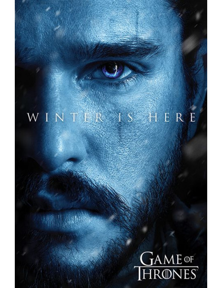 Game Of Thrones Winter is here - Jon Snow Poster multicolore