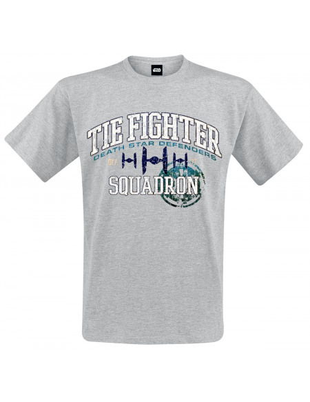 Star Wars TIE Fighter Squadron - Death Star Defenders T-shirt gris chiné