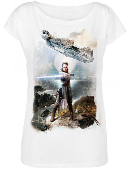 Star Wars Episode 8 - The Last Jedi - The Stand T-shirt Femme blanc