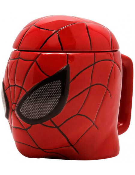Spider-Man 3D Mug With Lid Mug en céramique multicolore
