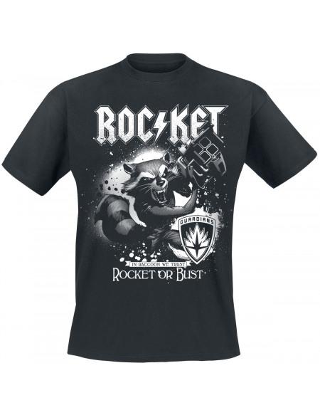 Les Gardiens De La Galaxie Les Gardiens de la Galaxie 2 - Rocket Or Bust T-shirt noir