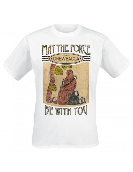 Star Wars Chewbacca & Amis T-shirt blanc