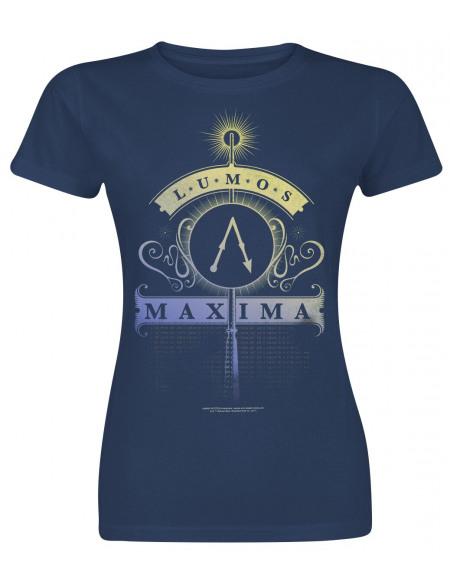 Harry Potter Lumos Maxima T-shirt Femme marine
