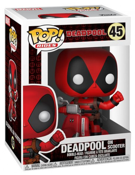 Deadpool Figurine en vinyle Deadpool en Scooter 45 Figurine de collection Standard