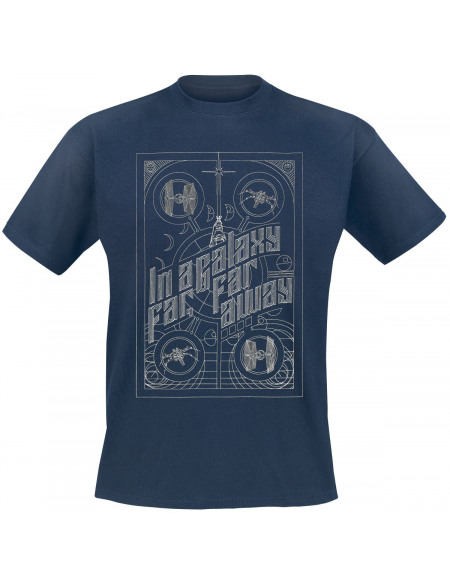 Star Wars In A Galaxy Far, Far Away T-shirt marine