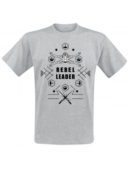 Star Wars Rebel Leader T-shirt gris chiné
