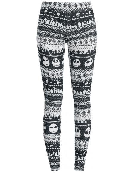 L'Étrange Noël De Monsieur Jack Intarsia Stripe Legging noir/blanc