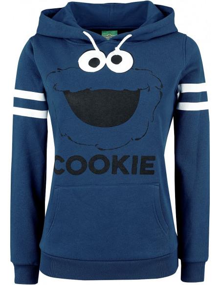 Sesame Street Krümelmonster - Cookie Sweat à Capuche Femme bleu