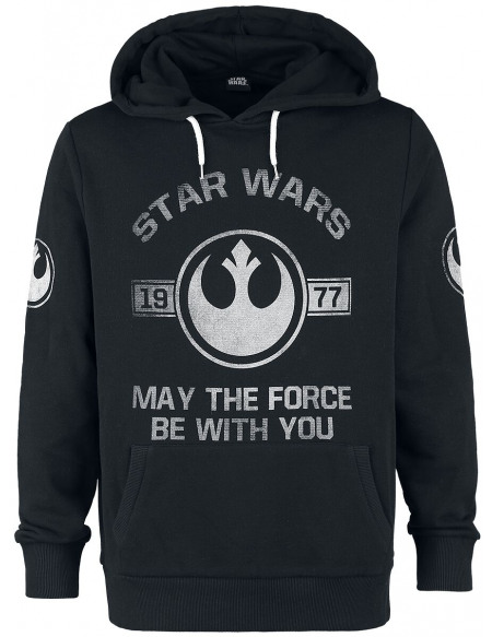 Star Wars 1977 - May The Force Be With You Sweat à capuche gris chiné