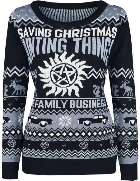 Supernatural Saving Christmas Hunting Things Pull Femme multicolore