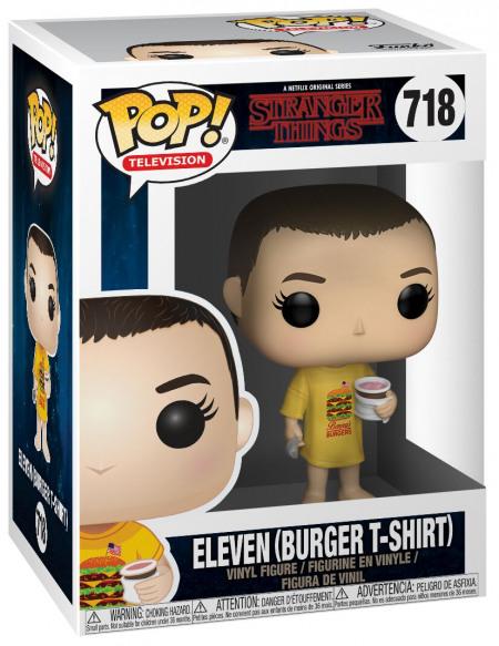 Figurine Funko Pop Stranger Things Eleven avec Burger T-shirt