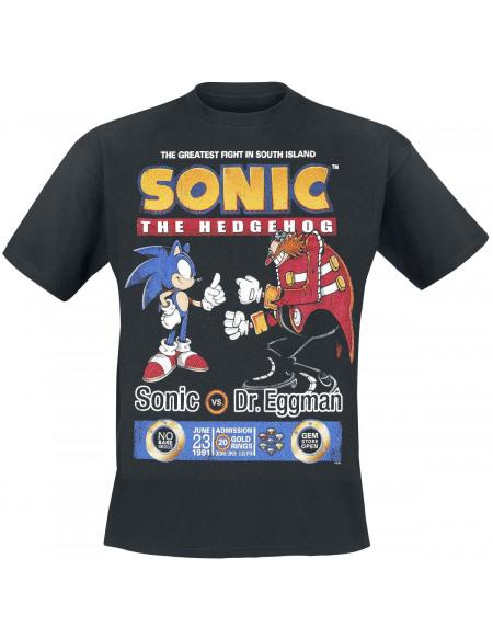 Sonic The Hedgehog Sonic Vs. Dr. Eggman T-shirt noir