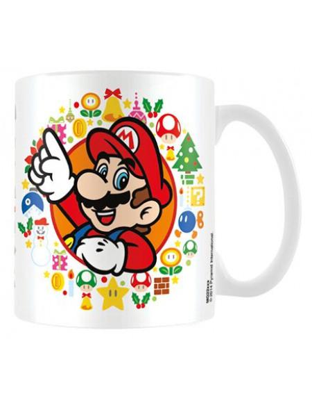 Super Mario Happy Holidays Mug blanc