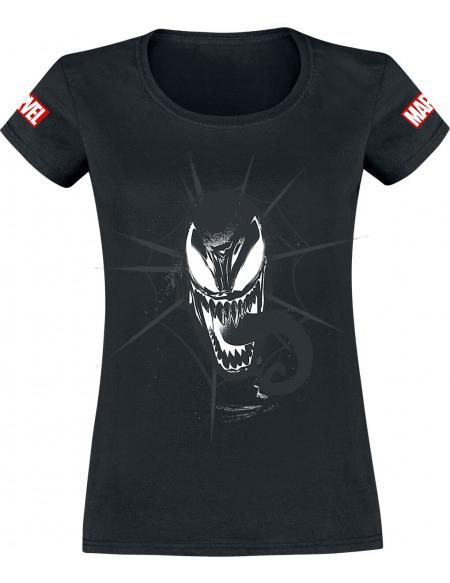 Venom (Marvel) Head T-shirt Femme noir