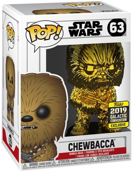 Star Wars Star Wars Celebration 2019 - Chewbacca (Chrome) - Funko Pop! n°63 Figurine de collection Standard
