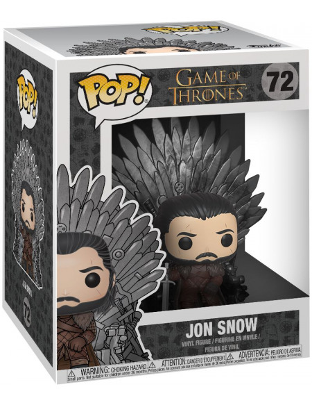 Figurine Funko Pop Deluxe Game of Thrones Saison 10 Jon Snow On Throne