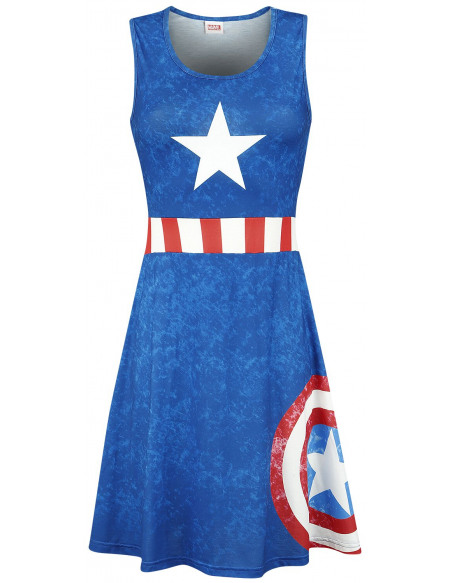 Captain America Uniforme Robe bleu