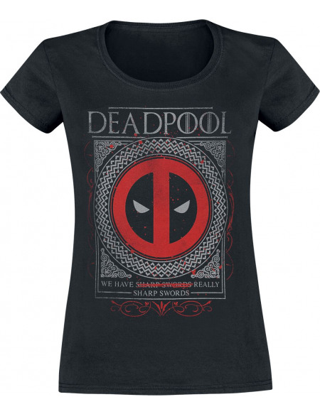 Deadpool House Deadpool T-shirt Femme noir