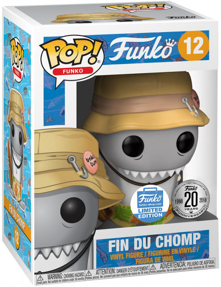 Funko Spastik Plastik - Fin Du Chomp (Funko Shop Europe) - Funko Pop! n°12 Figurine de collection Standard
