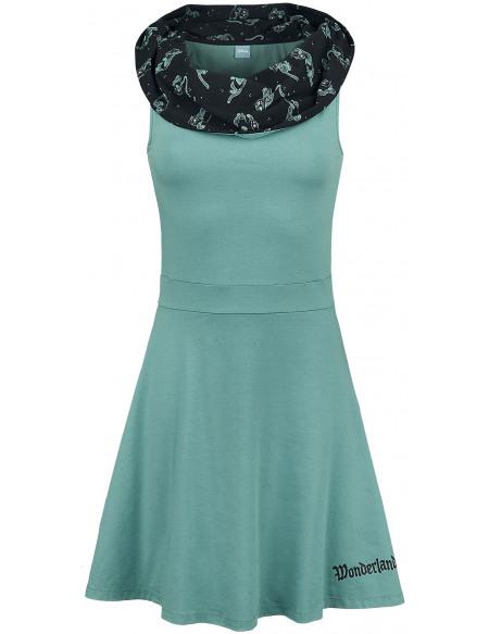 Alice Au Pays Des Merveilles Chat Du Cheshire - Pays Des Merveilles Robe turquoise