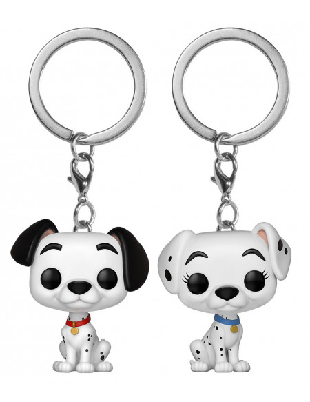 Les 101 Dalmatiens Pongo und Perdita - POP! Keychain 2-Pack Porte-clés Standard
