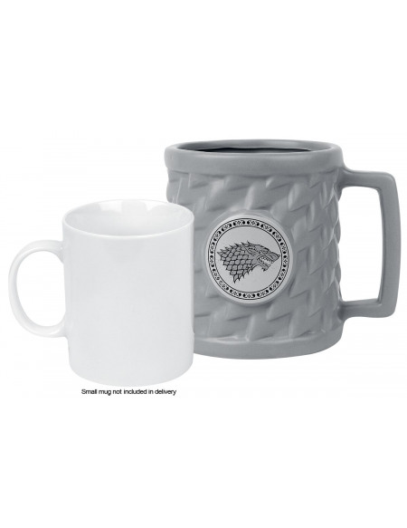 Game Of Thrones Mug 3D - Maison Stark Mug gris