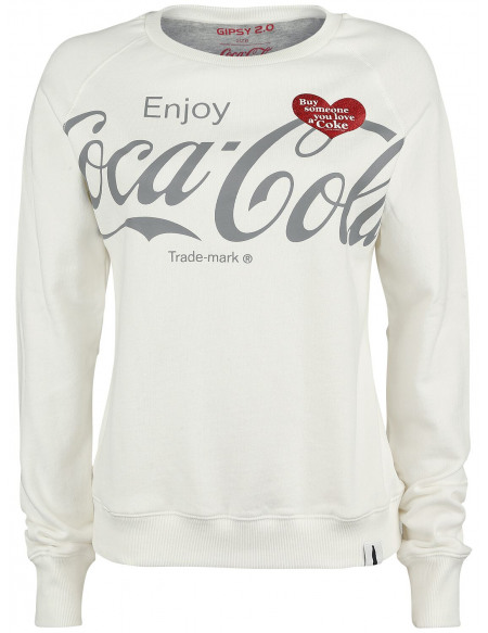 Coca Cola Logo Sweat-shirt Femme blanc