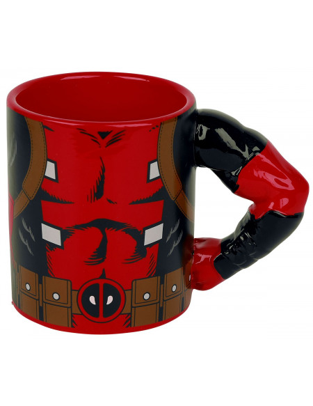 Deadpool Mug Deadpool - Bras 3D Mug multicolore